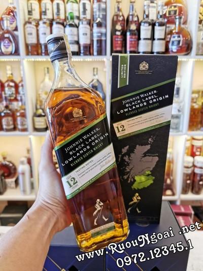 Rượu Johnnie Walker Black Label Lowlands Origin