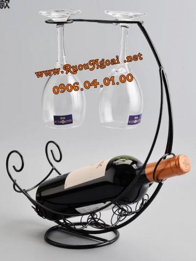 Kệ Rượu Vang Hình Nôi 1 Chai
