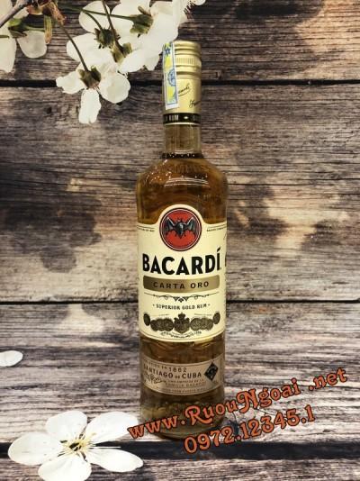 Rượu Bacardi Carta Oro Superior Gold Rum