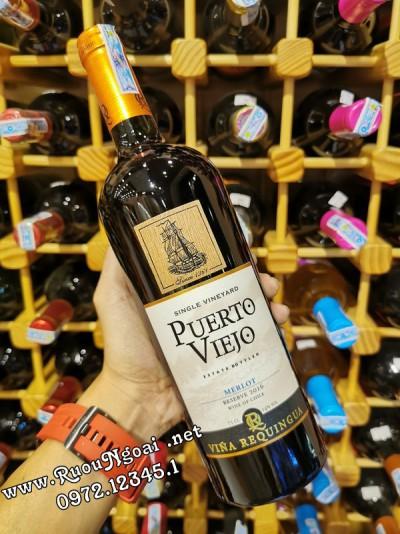 Rượu Vang Puerto Viejo Reserve Merlot