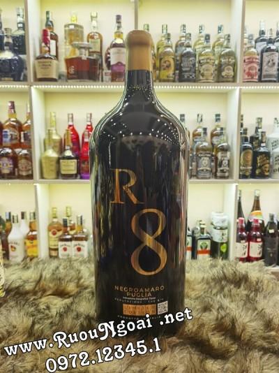 Rượu Vang Ý R8 Negroamaro 9L